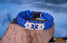 EMS light duty blue paracord bracelet with first responder Star of life charm 11