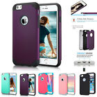 Hybrid Rugged Armor Shockproof Rubber Case For iPhone 7 6 6s Plus 5 5s SE