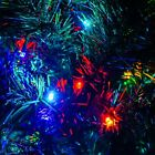 Holiday Time Pre-Lit 6' Artificial Christmas Tree 250 Color Lights Green NEW