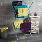 Airer Winged 2 3 4 Tier Radiator Clothes Laundry Washing Drying Rack Indoor