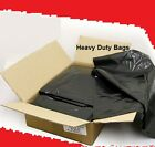 STRONG HEAVY DUTY BLACK REFUSE SACKS BAGS BIN LINERS WASTE BAG RUBBISH 160G