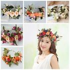 Fashion Women Wedding Flower Wreath Crown Headband Floral Garlands Hair band WK