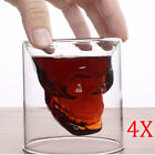 2/4 pcs Crystal Skull Head Vodka Shot Glass Cup Drinking Ware Home Bar