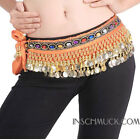 C91008 Hip Scarf Belly Dance Carnival Coin Belt Belly