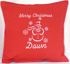 Merry Christmas Personalised snowman Xmas gift Sofa Bed Car Home Decor cushion