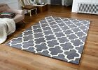Arab Moroccan Style Grey Cream Quality Thick Rug Runner Comes In 4 Sizes