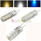 2/4/10x G4 24 SMD3020 3W Dustproof LED Light Bulb Warm/Pure White Blue OFUK