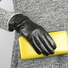 New Fashion Womens GENUINE Lambskin LEATHER winter warm gloves