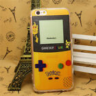 Pokemon Go Pikachu Game Boy Hard Case Soft Edge Cover F iPhone 6 / 6S Plus NEW