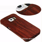 Authentic Rose Wood Bamboo Hard Case Back Cover for Samsung Galaxy S6 Edge S6 S7