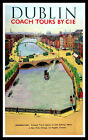 Dublin Ireland FRIDGE MAGNET 6 x 9.5 Vintage Travel Poster Magnetic Canvas Print