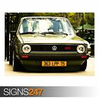 GOLF GTI (AA945) CLASSIC CAR POSTER - Photo Picture Poster Print Art A0 to A4