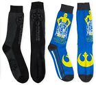 Mens Star Wars Crew Socks Darth Vader C3-PO R2-D2 Blue Gray Black