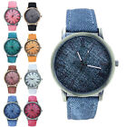Fashion Women's Watch Roman Numerals Leather Analog Quartz Wrist Watches New WK