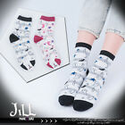 american street cartoon halloween poltergeist party striped ankle socks【JMA7040】