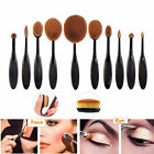 10tlg Oval Pinsel Puderpinsel Kosmetik Brushes Make Up Brush Zahnbürste nue günstig