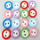 100/200 Round 2-Holes resin buttons For craft Sewing Deco 11.0mm choose colors