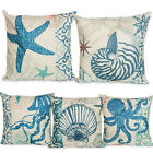 Marine Life Shellfish Starfish Jellyfish Conch Octopus Cushion Cover Pillowcases
