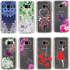 Clear Crystal Pattern Silicone Soft TPU Case Cover For Samsung Galaxy S6 S7 Edge