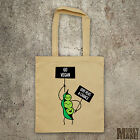 PEA Protest - GO VEGAN give peas a chance tote shopper bag veggie animal rights