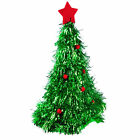 Green Tinsel Christmas Tree Hat Xmas Party Novelty Hat Fancy Dress Costume
