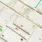 A5 A6 Loose-leaf Colorful Printing WHITE paper for Spring Binder 65LB 45 Sheets