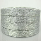 1Roll 25yards Glittering Silver Christmas Ribbon for craft ribbon bow Decorates