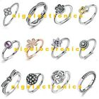 925 Sterling Silver Size 7 8 Go Amazing Ring fit European Charm Bracelet New