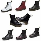 Winter Womens Ladies Flat Lace Up Leather Martin Boots Snow Ankle Biker Shoes