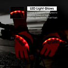 Anti-slip Fingerless Sport Cycling Bicycle Gloves LED Light Half Finger Gel Palm