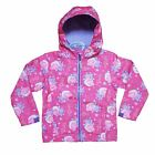 GIRLS PEPPA PIG PINK SOFT SHELL LIGHTWEIGHT JACKET COAT FLEECE ZIP HOOD