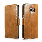 Genuine Leather 2 in 1 Card Wallet Case Flip Cover For Samsung Galaxy S7/S7 Edge