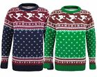 New Men Gents Knitted Long Sleeve Jumper Fair Isle Top Pullover Sweater UK Size