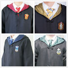 Harry Potter Gryffindor Hufflepuff Ravenclaw Slytheri School Adult Robe With Tie