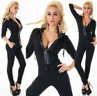 Sexy New Womens Jumpsuit Tracksuit Leisure Suit Hood Fitness Overall B 728