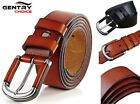 Men's 100% Genuine Leather Suiting Casual Alloy Pin Buckle Brown Black Soft Belt