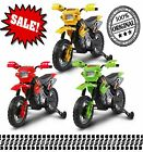 Kids Childs Ride on Motorbike Car Mini Motocross Mx 6v Battery Bike - Green Red
