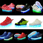 Kids Boys Girls Light Up Shoes Trainers Sneakers LED Flashing Boots Size 5-10.5