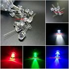 10 100 2pin 8mm 0.5W light-emitting diode High Power LEDs Red Green  Blue White