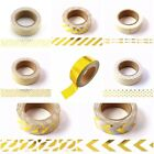 Gold Foil Washi Tapes Gorgeous15mm x 10 Metres Masking Tapes Includes FREE UK PP