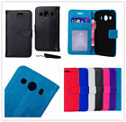 For Samsung Galaxy Stand Wallet Flip Crazy Horse PU Leather Phone Back Case G