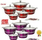 Sq Professional Metallic Colour 5 Pcs Cooking/casserole Pot Set, Induction Based