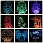 7 Color Star Wars Death Star 3D LED Night Light Touch Switch Table Desk Lamp $18.92 CAD