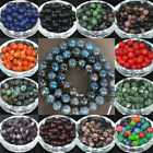 "15"" Strand Natural Stone Gemstone Faceted Agate Round Spacer Loose Beads 8cm"