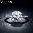 Mdean Wedding Rings For Women Platinum Plated Jewelry Luxury Rings Engagement Sq