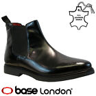 MENS BASE LONDON REAL LEATHER CHELSEA ANKLE DEALER SMART WEDDING BOOTS SHOES