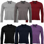 ARMANI JEANS LONG SLEEVE POLO SHIRT in NAVY/BLACK/GREY/DEEP RED/GREY MARL/PURPLE