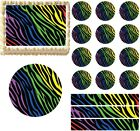 print edible images - Rainbow Zebra Print Edible Cake Topper Image Cake Decoration Cupcakes Cookies