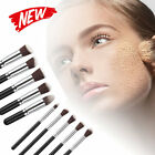 10 Pcs Professional Cosmetic Makeup Eye Shadow Brush Soft Synthetic Fiber Tools