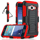 Hybrid Belt Hard Clip Holster Case Cover For Samsung Galaxy J1 /Amp 2 /Express 3